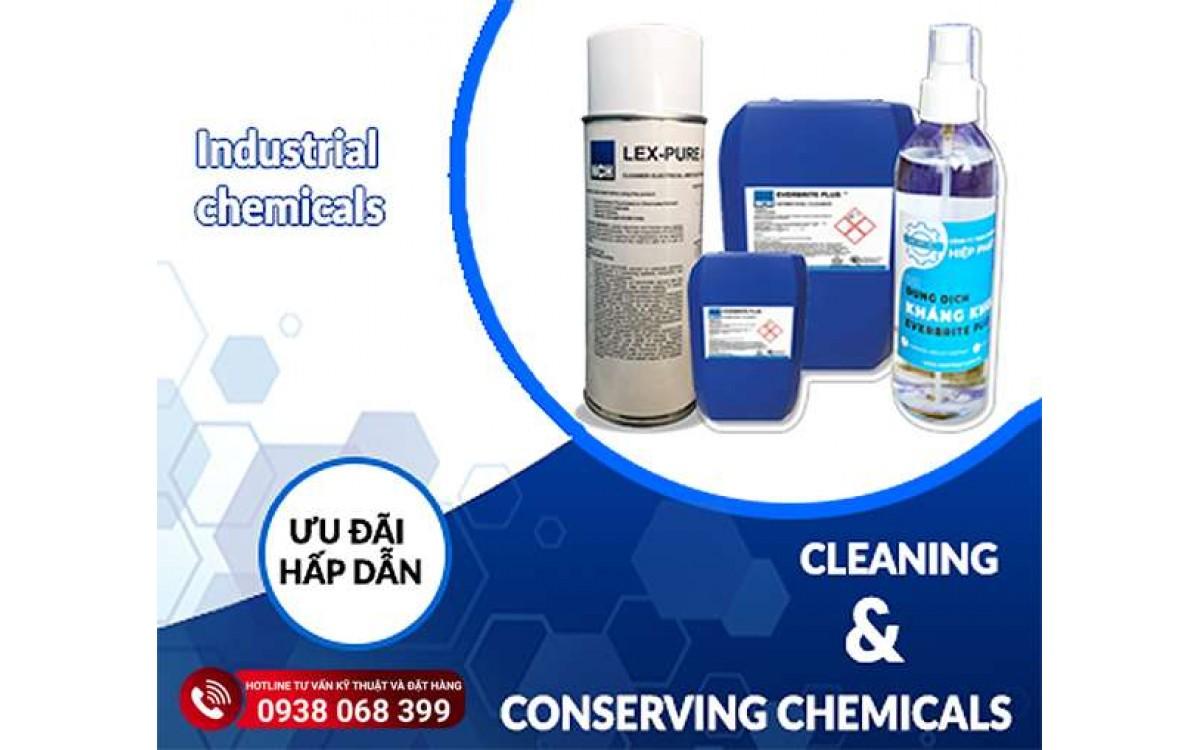 Hóa chất tẩy rửa công nghiệp phổ biến hiện nay